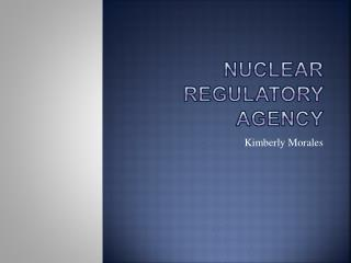 Nuclear Regulatory Agency