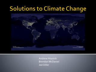Solutions to Climate Change
