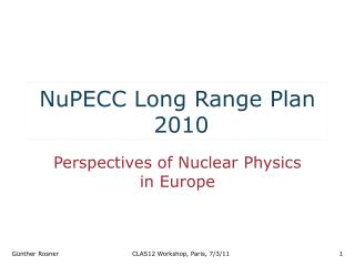 NuPECC Long Range Plan  2010