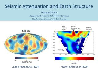 Seismic Attenuation and Earth Structure
