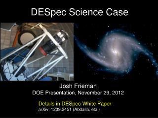 DESpec  Science Case