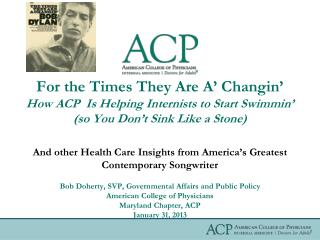 And other Health Care Insights from America's Greatest Contemporary Songwriter