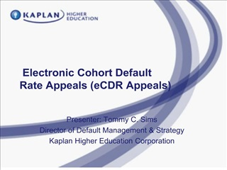 electronic cohort default  rate appeals ecdr appeals