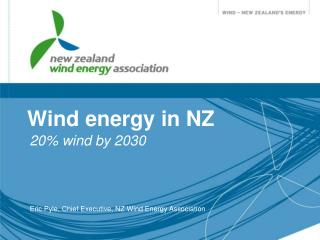 Wind energy in NZ