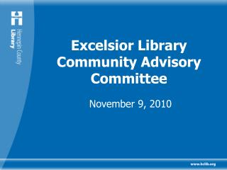 Excelsior Library Community Advisory Committee