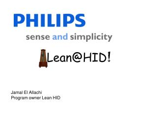 Jamal El Allachi Program owner Lean HID