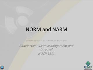 NORM and NARM