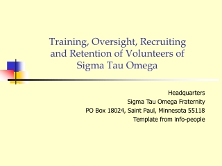 how to recruit and retain volunteers