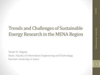 Trends and Challenges of Sustainable Energy Research in the MENA Region