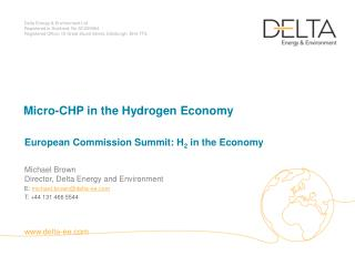 Micro-CHP in the Hydrogen Economy