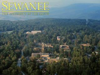 4-Year Private Liberal Arts College:  Founded 1857 1,455 Undergraduate Students 13,000  acre Domain  atop the  Cumberla
