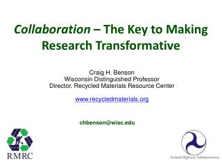 Collaboration  – The Key to Making Research Transformative