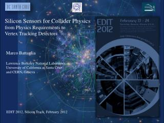 Silicon Sensors for Collider Physics from Physics Requirements to  Vertex Tracking Detectors
