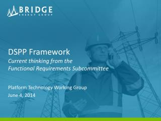 DSPP Framework Current thinking from the Functional Requirements Subcommittee