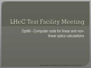 LHeC Test Facility Meeting