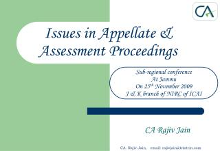 issues in appellate  assessment proceedings
