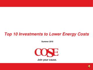 Top 10 Investments to Lower Energy Costs