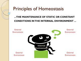 Principles of Homeostasis