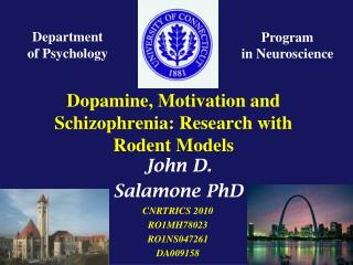 Dopamine, Motivation and Schizophrenia: Research with Rodent Models