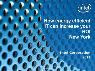 How energy efficient IT can increase your ROI New York