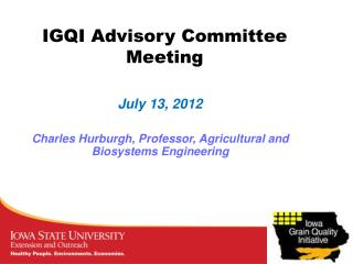 IGQI Advisory Committee Meeting