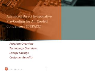 Advanced Direct Evaporative Pre-Cooling for Air Cooled Condensers (DEPACC)