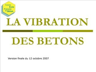 la vibration