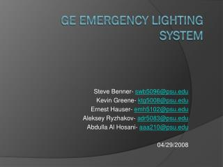 GE Emergency Lighting System