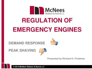 DEMAND RESPONSE   	 PEAK SHAVING