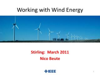 Working with Wind Energy