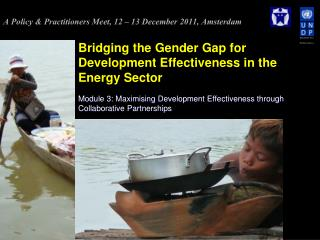 Bridging the Gender Gap for Development Effectiveness in the Energy Sector