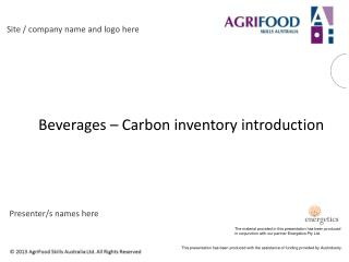 Beverages – Carbon inventory introduction
