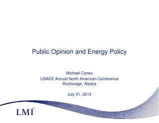 Public Opinion and Energy Policy