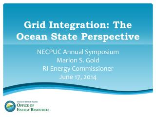Grid Integration: The Ocean State Perspective