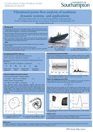 Vibrational power  flow analysis of nonlinear dynamic systems  and applications Jian  Yang. Supervisors:  Dr.  Ye Ping