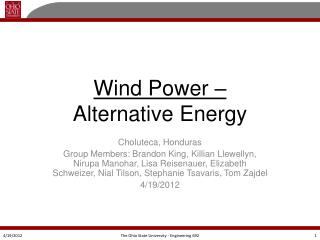 Wind  Power – Alternative  Energy