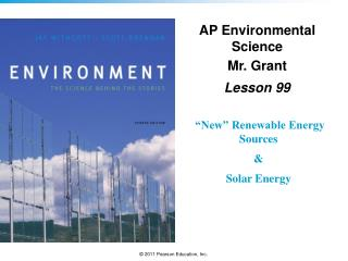 AP Environmental Science Mr. Grant Lesson  99