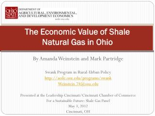 The Economic Value of Shale  Natural Gas in Ohio