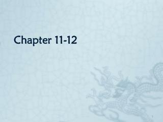 Chapter 11-12
