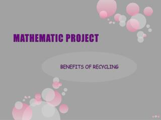 MATHEMATIC PROJECT