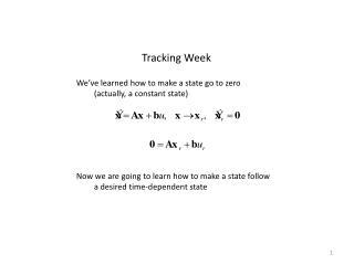 Tracking Week
