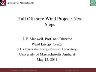 Hull Offshore Wind Project: Next Steps