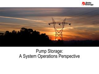 Pump Storage: A System Operations Perspective
