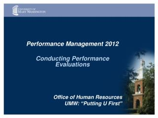 Performance Management 2012  Conducting Performance Evaluations