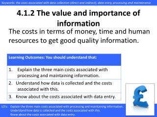 4.1.2  The value and importance of information