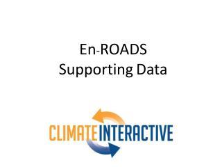 En - ROADS Supporting Data
