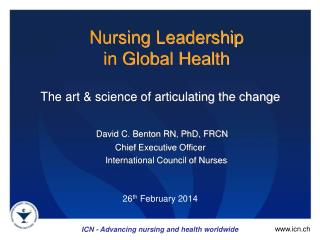 Nursing Leadership  in Global Health