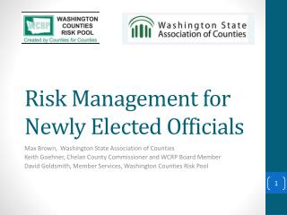 Risk Management for Newly Elected Officials