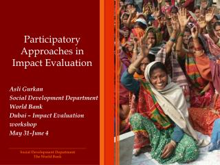 Participatory Approaches in Impact Evaluation