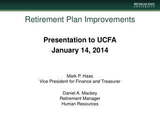 Retirement Plan  Improvements